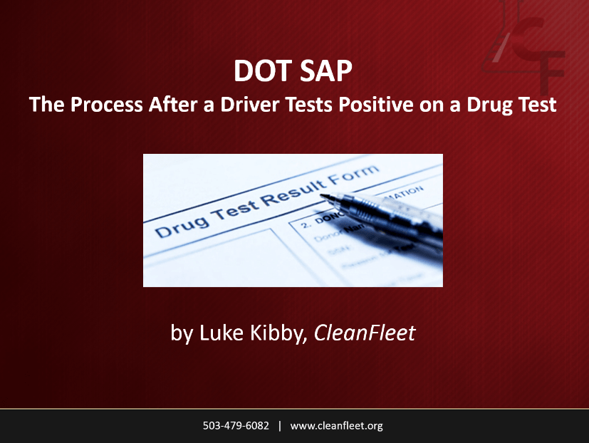 DOT SAP process trucking webinar