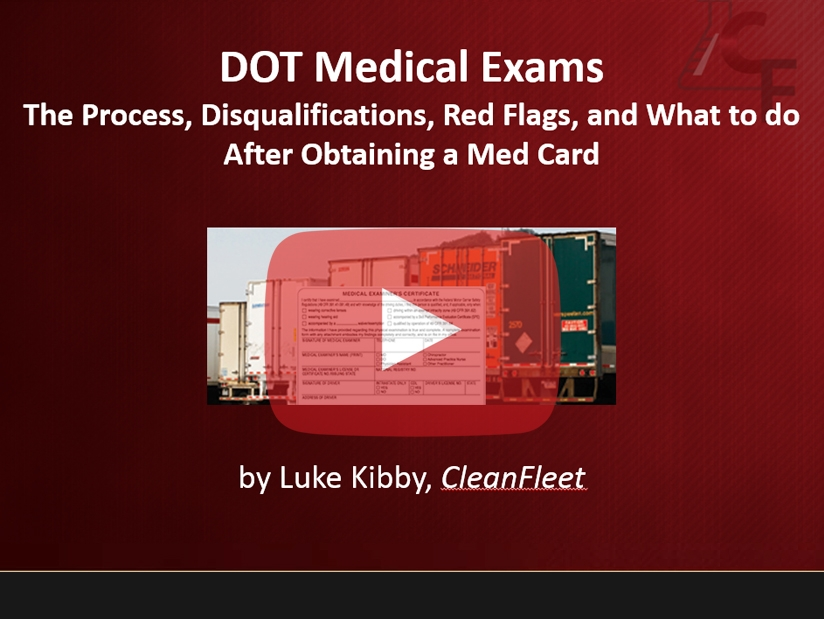 Webinar: DOT Medical Exams