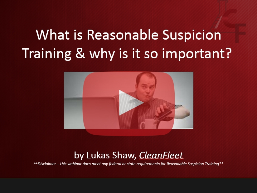 webinar What is reasonable suspicion