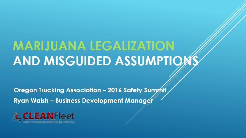 Presentation: Impacts in Legalized Marijuana