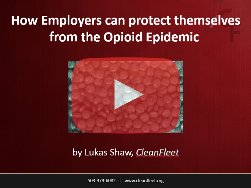 Webinar: How Employers can protect themselves from the Opioid Epidemic