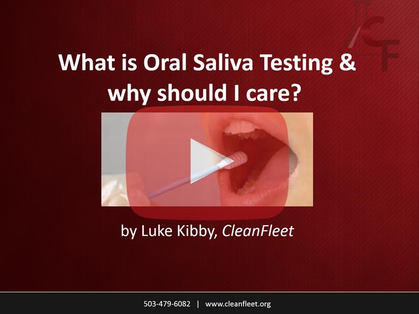Webinar: Oral Saliva Drug Testing