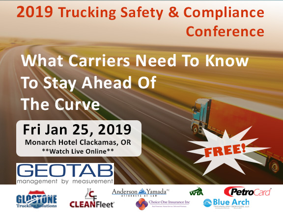 2019 trucking safety and compliance conference organized by CleanFleet and Glostone Trucking Solutions