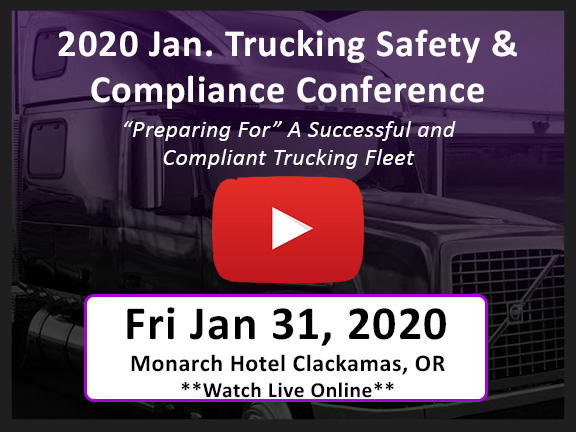 2020 Trucking Safety and Compliance Conference organized by CleanFleet and Glostone Trucking Solutions